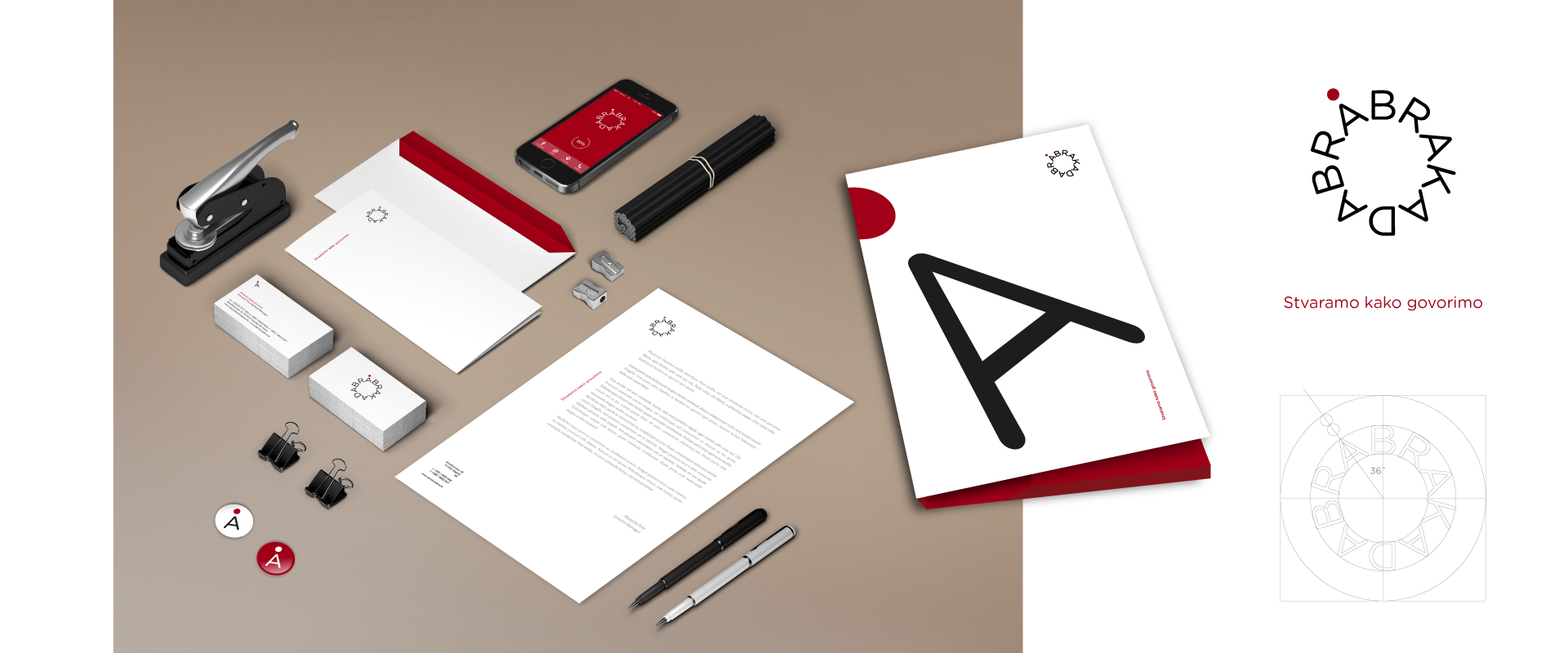 Abrakadabra logo and stationary