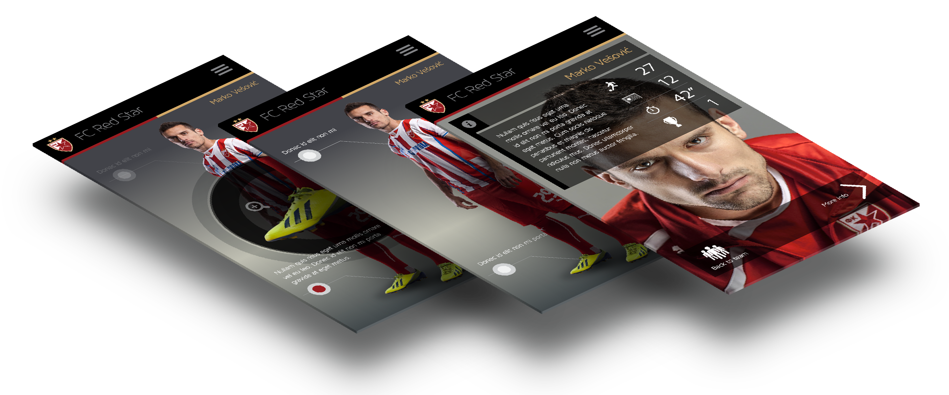 Red Star app screens